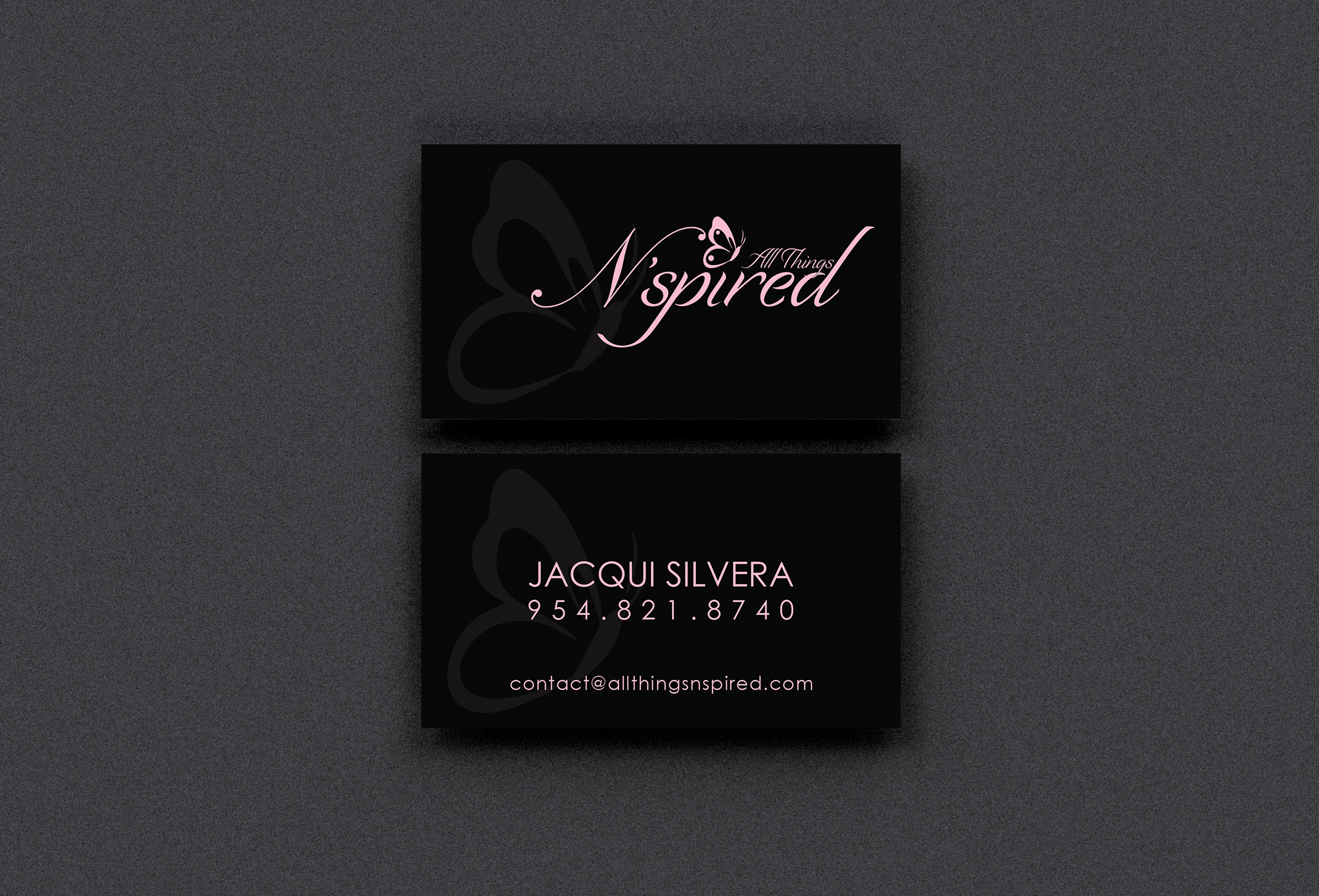Business Cards – Front _ Back Views